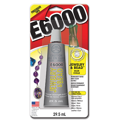 E6000 glue jewelry and bead with 4 needles, 1oz