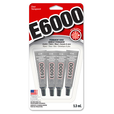 E6000 glue mini tubes, 4 x 5.3ml