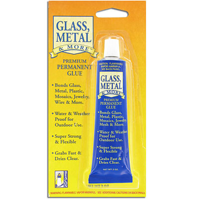 Glass, metal, and more permanent glue, 2oz