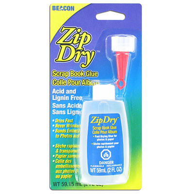 Zipdry scrap book glue, 2oz