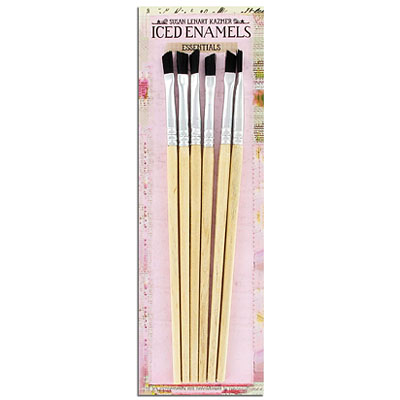 Brushes for iced enamels