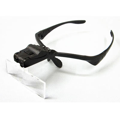 Optical magnifier with light and  5 lens