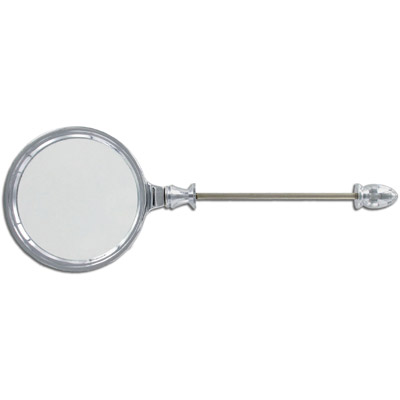 Add-a-bead magnifying glass, silver plate