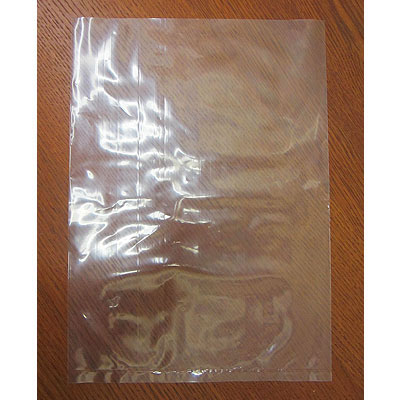 Plastic bag. Open end. Clear. 26x36cm (10.5x14)