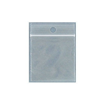 Resealable plastic bag. Clear. 3.8x3.8cm (1.5x1.5)