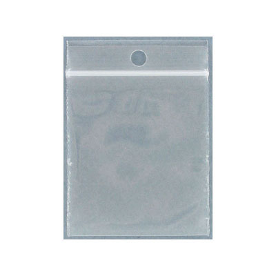 Resealable plastic bag. Clear. 5x6cm (2x2.5)
