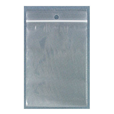 Resealable plastic bag. Clear. 7x10cm (2.75x4)