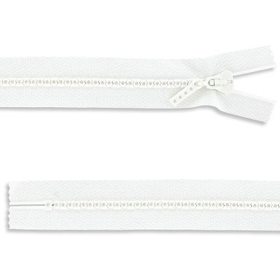 Rhinestone zipper small rhinestones, closed 16 inch, crystal/white