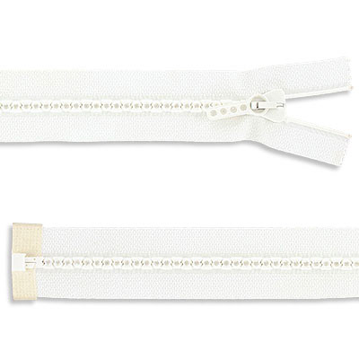 Rhinestone zipper small rhinestones, open 8 inch, crystal/white