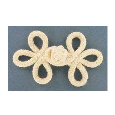 Button frog, 3 inch, ivory
