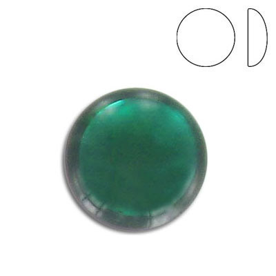 Glass cabochon, 18mm, emerald
