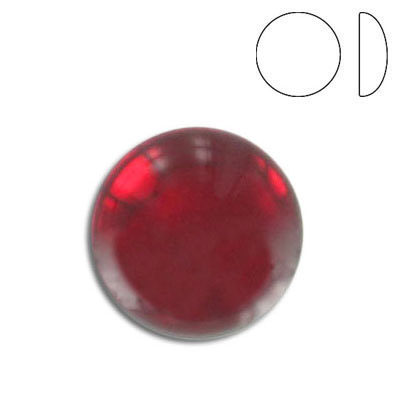 Glass cabochon, 18mm, siam