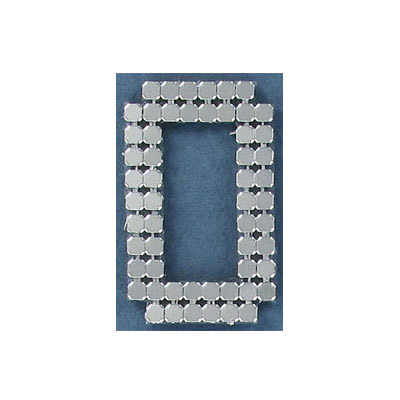Iron-on mesh motif hot-fix no.0 silver
