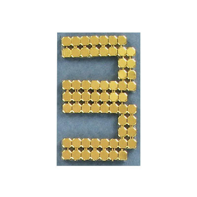 Iron-on mesh motif hot-fix no.3 gold