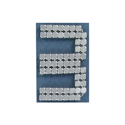 Iron-on mesh motif hot-fix no.3 silver