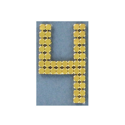 Iron-on mesh motif hot-fix no.4 gold