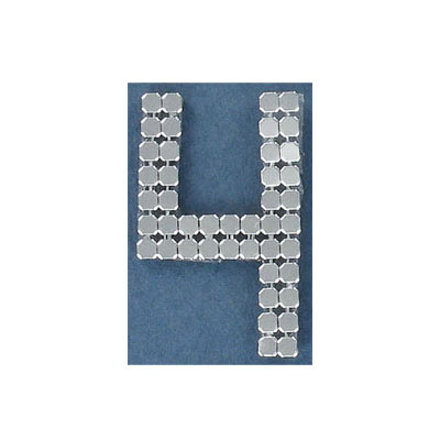 Iron-on mesh motif hot-fix no.4 silver