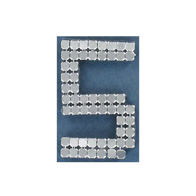Iron-on mesh motif hot-fix no.5 silver