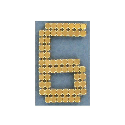 Iron-on mesh motif hot-fix no.6 gold
