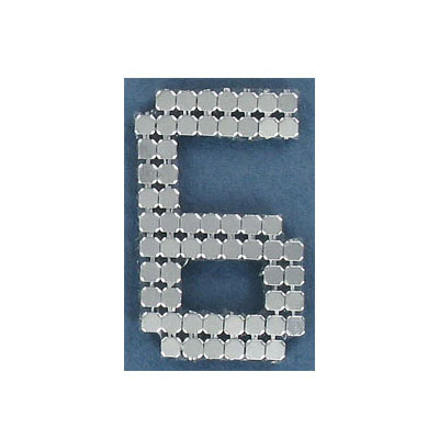 Iron-on mesh motif hot-fix no.6 silver