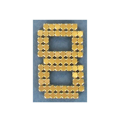 Iron-on mesh motif hot-fix no.8 gold