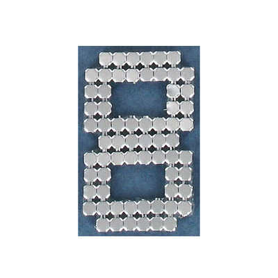 Iron-on mesh motif hot-fix no.8 silver