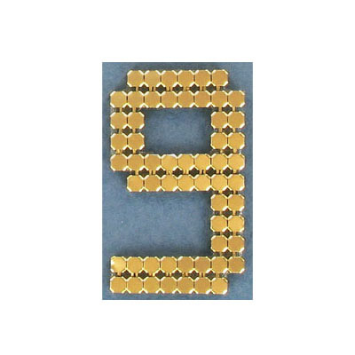 Iron-on mesh motif hot-fix no.9 gold