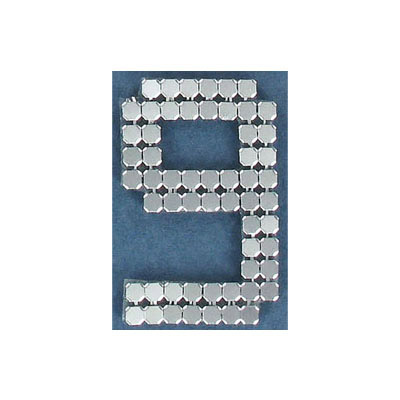 Iron-on mesh motif hot-fix no.9 silver