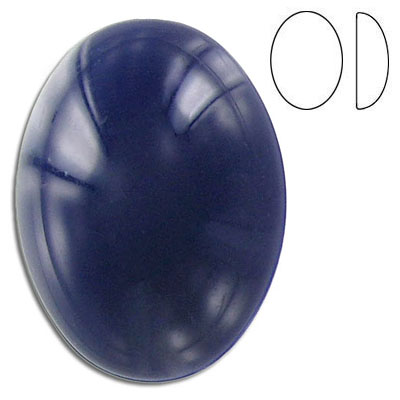 Plastic cabochon, oval, 40x30mm, violet