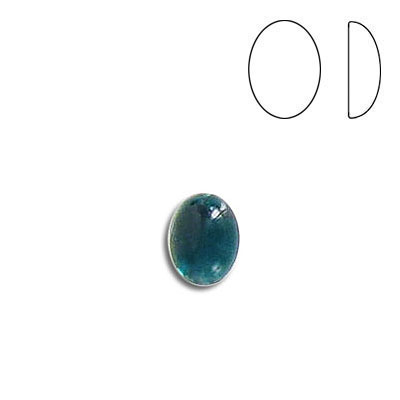 Plastic cabochon, oval, 8x6mm, emerald