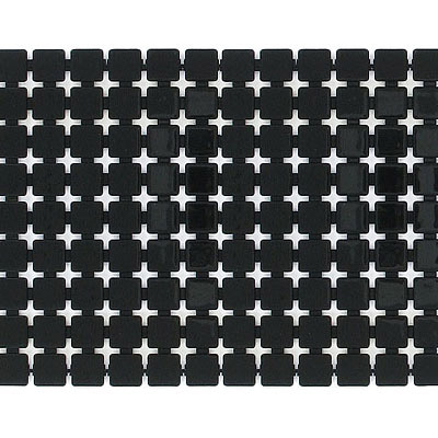 Plastic banding, 9 row, 5mm square tile, black