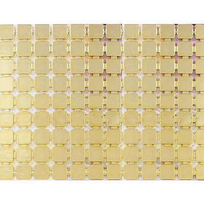 Plastic banding, 9 row, 5mm square tile, gold