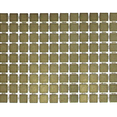 Plastic banding, 9 row, 5mm square tile, antique brass