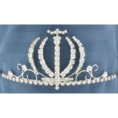 Tiara crystal/silver with combs