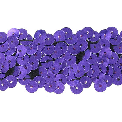 Stretch sequins 3-row purple banding