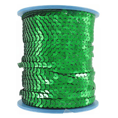 Sequins flat 6mm (100m)  green
