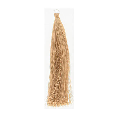 Tassel, 5 inch, with 8mm jumpring, camel