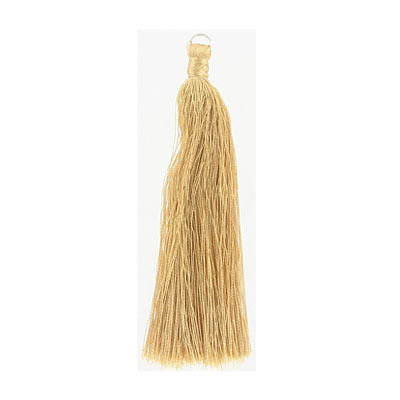 Tassel, 5 inch, with 8mm jumpring, champagne