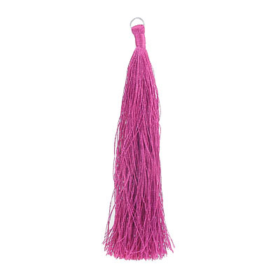 Tassel, 5 inch, with 8mm jumpring, fuchsia