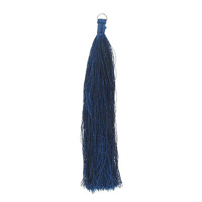 Tassel, 5 inch, with 8mm jumpring, sapphire