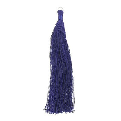 Tassel, 5 inch, with 8mm jumpring, tanzanite