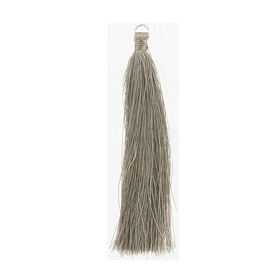 Tassel, 5 inch, with 8mm jumpring, taupe