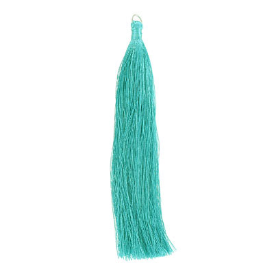 Tassel, 5 inch, with 8mm jumpring, zircon