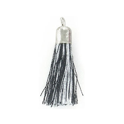 Tassel, 32mm, black and white mix