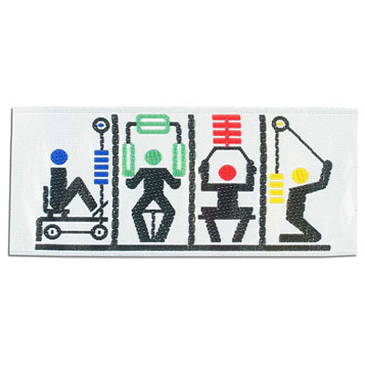 Iron-on label, work out, 90x40mm
