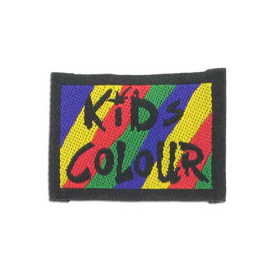 Embroidery appliques, label, kids colour, 54x40mm