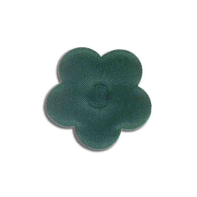 Iron-on label, puff flower, hunter, 40mm