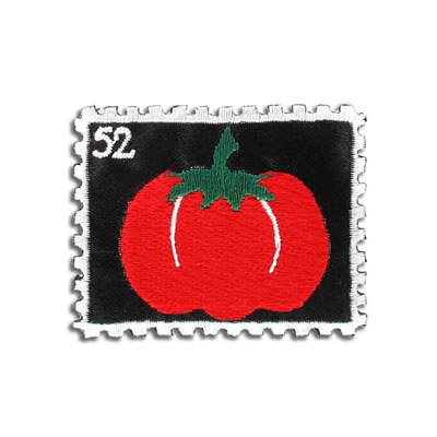 Iron-on label, stamp tomato, 57x45mm