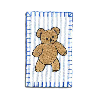 Iron-on label, teddy bear, 75x45mm