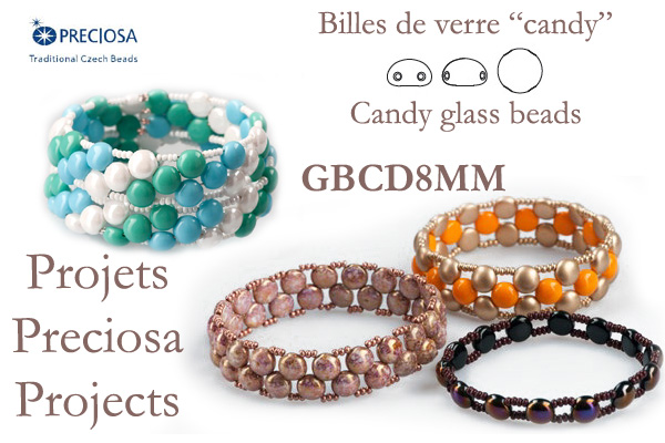 Candy glass beads